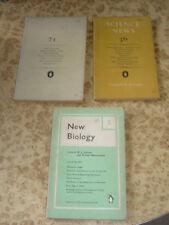 3x 1950s Science News 21 36 + Biology 5 ~ Vintage Penguin Paperback Book