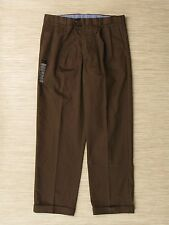Axist Brown Corporate Khaki Dress Pants Men's Size 36x32 Pleated Front Trousers