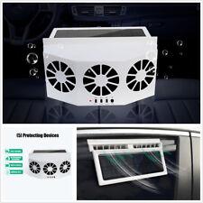 2.4V White Outer Solar Panel Three Fans Car Cooler Air Vent Radiator 3500r/min
