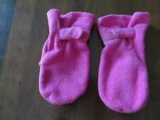 One Step Ahead Toddler Girls Pink Cozy Cub Fleece Mittens Size M VGUC