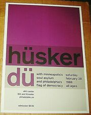 HUSKER DU ROCK CONCERT POSTER SWISS PUNK GRAPHIC POP ART ELKS 10X14
