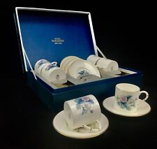 Royal Worcester Porcelain Woodland Coffee Cup And Saucer Set / Boxed