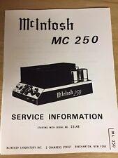 McIntosh Service Manual - Model Mc250