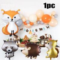 1PC Cartoon Animal Balloons Hedgehog Squirrel Aluminum Film Balloon Party Decor