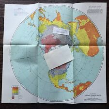 U.S. AIR FORCE January Climatic Zones Chart, GH - 19a, Northern Hemisphere 1947
