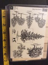Stampin Up Lovely As A Tree wood block rubber craft stamp set 2001 woods trees