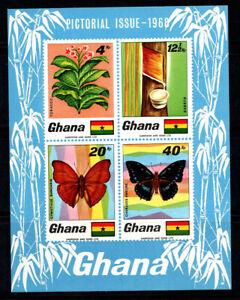 Ghana 1968 Mi. BL.31 SS 100% MNH butterflies, fauna