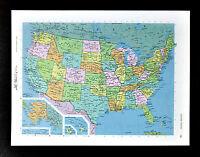 c1970 McNally Cosmo Map - United States of America - Hawaii Alaska Texas Florida