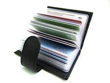 RFID Blocking Genuine Black Leather Credit Card Holder Wallet Purse 22 Cards