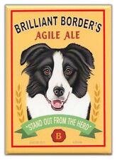 Retro Dogs Refrigerator Magnets: Border Collie | Ale | Vintage Advertising Art
