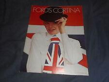 1970 Ford Cortina GT Model C and Anglia Original Color Brochure Catalog Prospekt