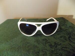 Vintage Gianfranco Ferre FF60804 WHITE MOD Sunglasses Glasses Black Lenses VGC