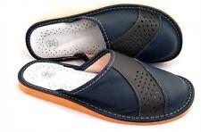 Herren echtes Leder Pantoffeln Hausshuhe Latschen Geschenke für Männer Gr. 40-46