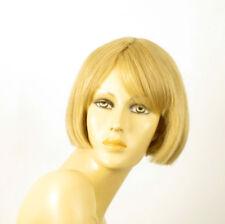 perruque femme 100% cheveux naturel courte blonde ref MAIA 22
