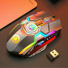 WIRELESS MOUSE GAMING LED LASER USB OPTICAL GAME RECHARGABLE SILENT LAPTOP UK