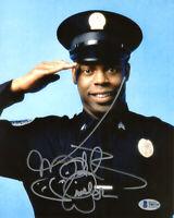 MICHAEL WINSLOW SIGNED 8x10 PHOTO LARVELL JONES POLICE ACADEMY RARE BECKETT BAS