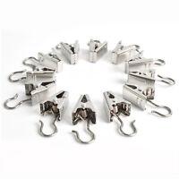 Selling 20 pcs/pack Metal Heavy Duty Curtain Clips W Hook Silver Metal Hooks