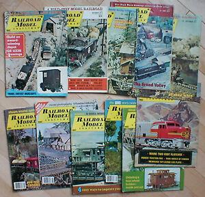 Lot of 12 Railroad Model Craftsman, 1973-1977
