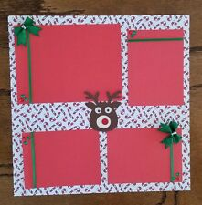 Rudolph Pre Made Scrapbook Pages
