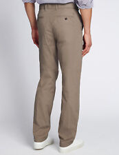 M&S Super LIGHTWEIGHT Trousers ~ REGULAR Fit CHINOS ~ 32W 33L ~ TAUPE ~ BNWT £39