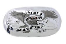 Eagle Spirit Oval Chrome Air Cleaner Insert For Harley-Davidson