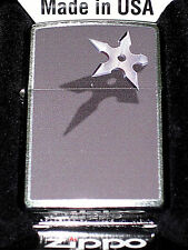 Zippo cigarette lighter Five Pointed Throwing Dart BS Star Ninja shuriken NEW