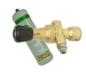 Mini Gas Bottle Regulator Fits Disposable CO2 Argon Mig Tig Welding Portable NEW