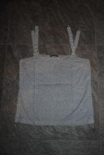 LUISA CERANO | Top | Shirt  | Trägershirt | GRAU |  M L  42 44 mit Schnallen