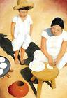 Woman Making Tortilla 24x36 Poster Latino Hispanic Mexican Art by Frank Kessel