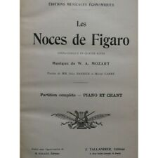 MOZART W. A. the wedding of Figaro Opera Singer Piano 19th partition sheet music