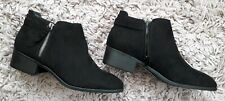 DOROTHY PERKINS BLACK MAJOR WOMENS LADIES ANKLE BOOTS NEW SIZE UK 7 FAUX SUEDE