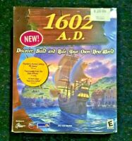 1602 A.D. Big Box PC Game CD-ROM Discovery Exploration Simulation