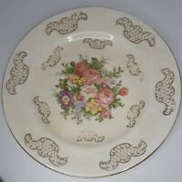 Vintage Royal China Warranted 22 Kt. Gold Plate with Floral Center Preowned vtg