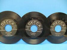 Ernest Tubb 45 LOT Hey, Mr Bluebird Decca 30610 House Of Glass 30549 My Treasure
