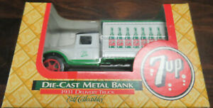 7UP Ertl Die-Cast Metal Bank MIB 1931 Delivery Truck NOS 1/34 Scale