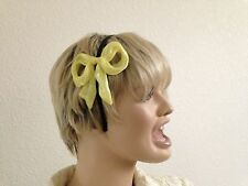 Yellow Satin Bow Headband Hair Jewelry Hat