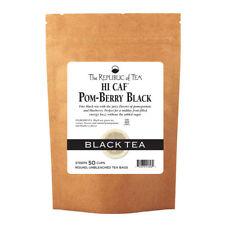 The Republic Of Tea Hicaf Pom-Berry Black Tea, 50 Tea Bags, High Caffeine Pomegr