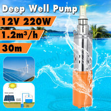 Deep Well Submersible Pump 12V 30M Max Lift Flow 1.2M³/H Solar Powder Water Pump