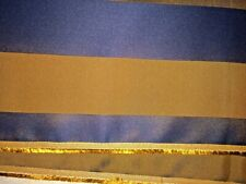 """Navy Blue & Rich Brown Stripped Upholstery Fabric 54"""" Wide x 1.5 Yards"""