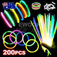200pcs Glow Sticks Bracelets Necklaces Neon Colors Party Favors Disco Rave Rock