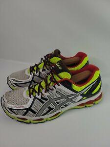 Asics Gel-Kayano 21 Mens Running Shoes White/Lightning/Flash Yellow Sz 14 T4H2N
