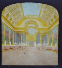 1850/60 Hold To Light Colour Tissue Stereoview Photo Versailles Batailles F Grau