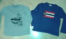 Lot de 2 tee shirts à manche hiver 100% coton OOXOO et cyrillus 6 ans garçon