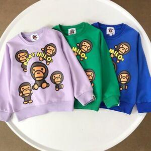 2022 Fashion Kids Boy Girl Animal Play Together Pullover Sweatershirt Hoodies