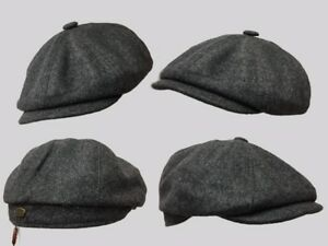 Tommy Shelby,8 panel bakerboy,newsboy,peaky blinder1920s CHEESE CUTTER FLAT CAP