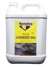 Bartoline huile de lin brute 5 L Restaure le naturel Sheen à Weathered Wood