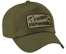 Fishing Baseball Cap Fishing Impossible Fish Hat Sports Water Cap Hat Gift Olive