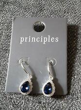 New - Principles earrings - Blue Stone