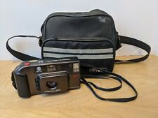 Minolta Freedom AF 200 P&S 35mm Film Camera with bag / lens cover stuck open