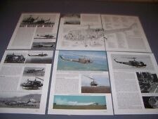 VINTAGE..BELL UH-1H IROQUOIS..COLOR PROFILES/CUTAWAY/COLOR PHOTOS...RARE! (66F)
